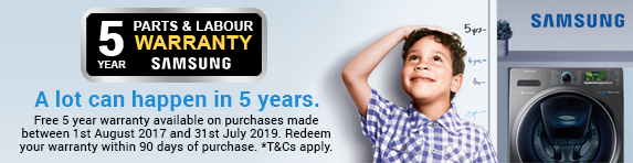 Samsung Extended 5 Year Warranty 01.08.2017 - 31.07.2019