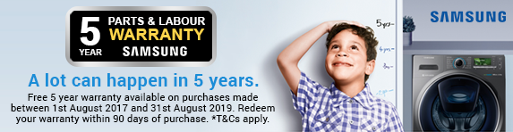 Samsung Extended 5 Year Warranty 01.08.2017 - 31.08.2019