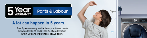 Samsung 5 Year Extended Warranty - 31.08.2022
