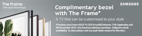 Complimentary Bezel with Samsung The Frame QLED TV 11.09.2019 - 05.11.2019