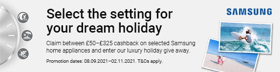 Samsung - Up to ?325 cashback on Home Appliances - 02.11.2021