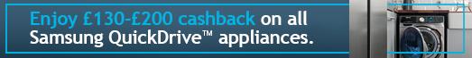 Samsung Quickdrive Cashback 17.07.2019 - 10.09.2019