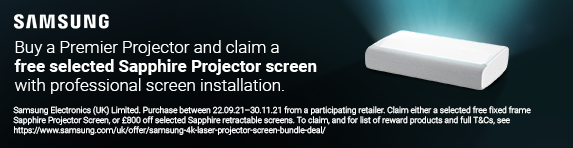 Samsung - Premiere Projector and Sapphire Projector Screen - 30.11.2021