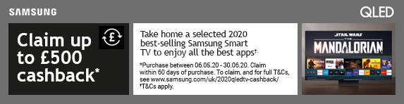 Samsung QLED Cashback Promotion 06.05.2020 - 30.06.2020