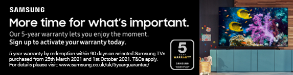 Samsung 5 Year TV Warranty - 01.10.2021