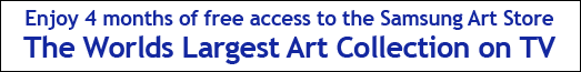 Samsung 4 Months Complimentary Access to Frame Art Store - 01.06.2019 - 31.12.2019