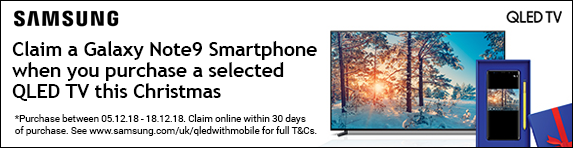 Samsung Free Galaxy Note9 with selected QLED TV