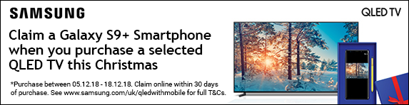Samsung Free Galaxy S9 Plus with selected QLED TV