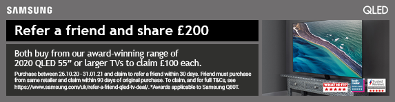 Samsung - QLED Refer a Friend and Share Cashback - 31.01.2021