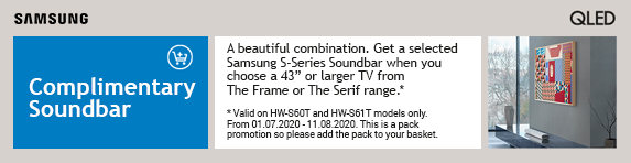 Samsung Blue Savings Promotions - FOC Soundbar with Samsung The Frame Televisions 01.07.2020 - 15.07.2020