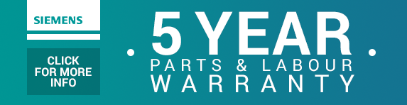 Siemens - 5 year guarantee