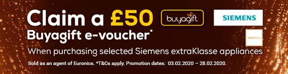 Siemens extraKlass Buyagift Voucher Promotion - 03.02.2020 - 28.02.2020