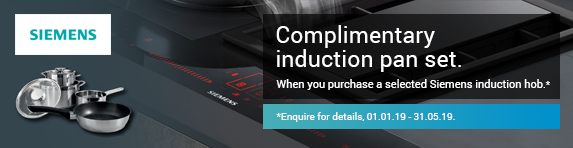 Siemens Complimentary Induction Pan Set Promotion 01.01.2019 - 31.05.2019