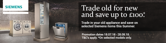 Siemens Trade In Reward Promotion 18.07-28.08.2018