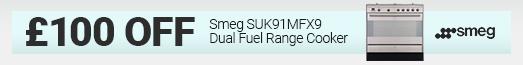 Smeg - £100 discount SUK91MX9 - 31.10.2021