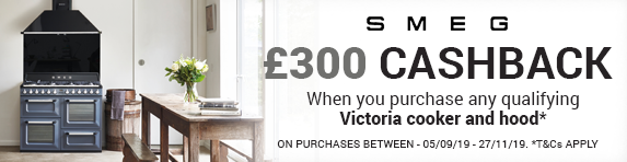 SMEG ?300 Cashback when you buy selected Victoria Cooker with matching hood