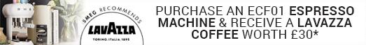 Smeg Purchase an ECF01 Coffee Machine and receive Lavazzo Coffee worth £30 01.10.2019 - 24.12.2019