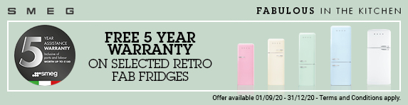 Smeg FAB 5 Year Warranty Promotion