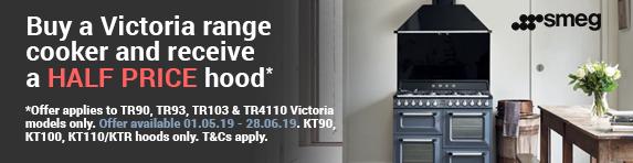 SMEG - Half Price Hood with a Smeg Victoria Range Cooker 01.05.2019 - 28.06.2019
