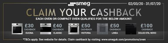 SMEG Oven Cashback Promotion 02.03.2020 - 28.05.2020
