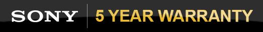 Sony - 5 Year Warranty - 31.12.2019