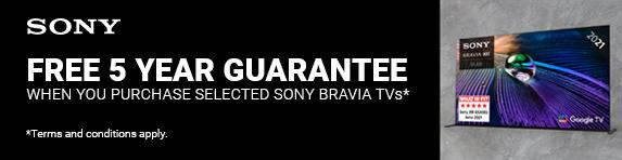 Sony - 5 year guarantee on TVs - 31.12.2021