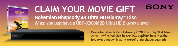 Sony Free Bohemian Rhapsody 4k Ultra HD Blu-ray Disc - Launch - 29.02.2020