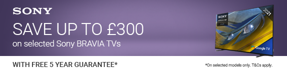 Sony - Save up to ?300 on selected TVs - 07.11.2021