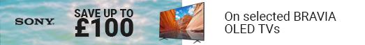 Sony - Save £100 on TVs - 27.07.2021