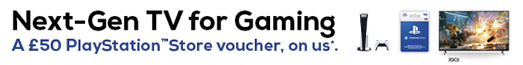 Sony - Get a £50 Gift Card PlayStation Store Voucher Promotion - 01.06.2021 - 31.07.2021
