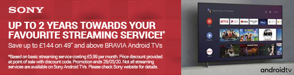 Sony Discount At Checkout - Up to 2 years towards your favourite streaming service! - 13.05.2020 - 26.05.2020