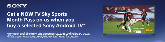 Sony - Now TV Sky Sports Month FREE Pass for one month - 02.02.2021