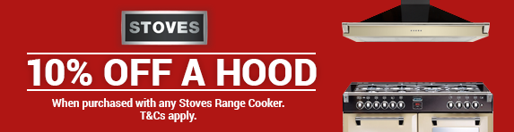STOVES - 10% off all hoods with a Range Cooker - 03.01.2019