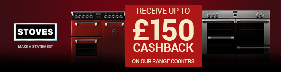 STOVES up to ?150 Cashback 01.09.2017 - 30.11.2017