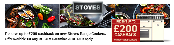 STOVES Richmond up to ?200 Cashback 01.08.2018 - 31.12.2018