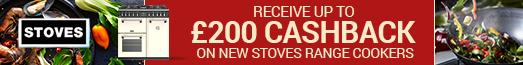 STOVES Richmond up to £200 Cashback 01.08.2018 - 31.12.2018