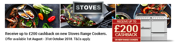 STOVES Sterling up to ?200 Cashback 01.08.2018 - 31.10.2018