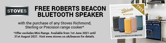 Free Roberts Beacon Bluetooth Speaker with selected Stoves Range Cookers - 01.06.2021 to 31.08.2021