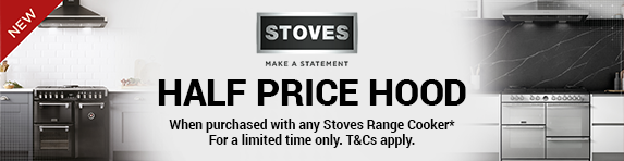STOVES - 50% off all hoods with a Range Cooker - 03.01.2019