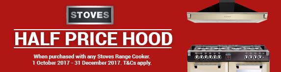 STOVES Half Price Hood Promo 01.10.2017 - 31.12.2017
