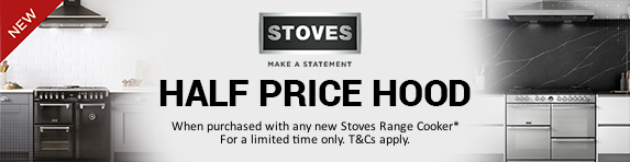 STOVES - Half Price Hood with any New Range Cooker 01.09.2018 - 31.12.2018