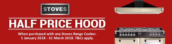 STOVES Half Price Hood Promo 01.10.2017 - 31.03.2018