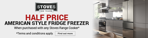 Stoves - Half Price American Style Fridge Freezer when purchasing a Sterling, Precision or Richmond Range Cooker - 01.01.2020 - 31.03.2020