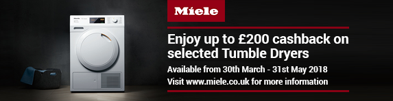 Miele Cashback up to ?200 on Tumble Dryers 30.03-31.05.2018