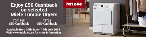 Miele Dryer Dryer ?50 Cashback 20.06-19.07.2018