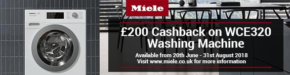 Miele WCE320 ?200 Cashback 20.06-31.08.2018