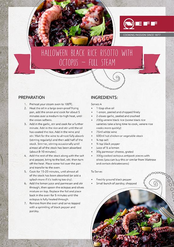 Neff Black Risotto Recipe