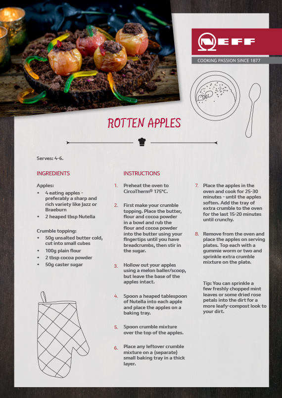 Neff Rotten Apple Recipe Card