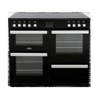 Belling Cookcentre 100E Black 100cm Electric Range Cooker