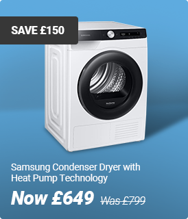Samsung Condenser dryer with heat pump technology
